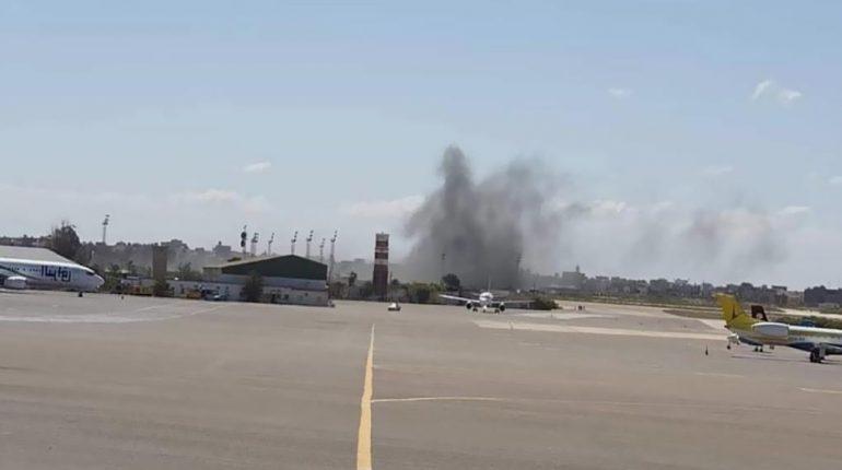 Bombardement à l'aéroport de Tripoli